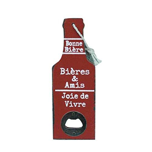 BESTONZON 1 STÜCK Edelstahl Flaschenöffner/Bier Bier Shaped/Wand Flaschenöffner für Barkeeper/Küche, Bar/Restaurant (Rot)