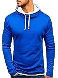 BOLF 18 Herren Pullover Longsleev ohne Kapuze Sweatshirt Kobaltblau XXL [1A1]