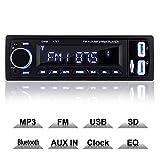 COOAU Autoradio Bluetooth, FM Radio de Coche Manos Libres Radio Estéreo de Coche, Llamadas Manos Libres, Apoyo Control Remoto, USB, SD, función AUX