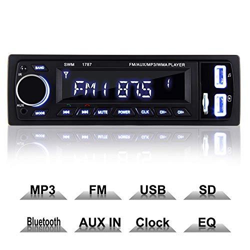 COOAU Autoradio Bluetooth, FM Radio de Coche Manos Libres Radio Estéreo de...