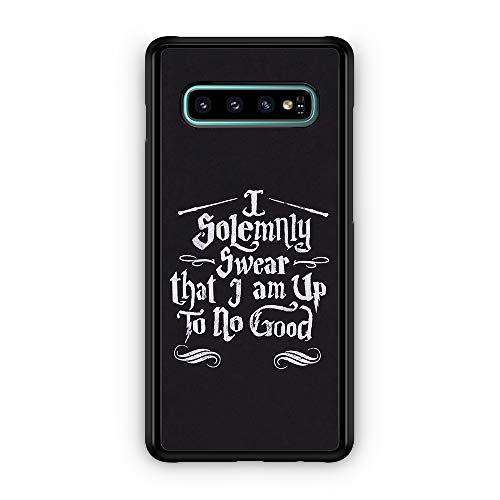 I Solemnly Swear I Am Up to No Good Magic Book Map Quote hülle für Samsung Galaxy S10
