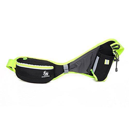 【Sport Hüfttasche】 Hüfttasche zum Verstauen solcher Gegenstände, wie Handy, Schlüssel, MP3 Player, Portemonnaie usw PraktischTasche Perfekt für Laufen, Wandern Camping Radfahren Sport und Outdoor Akti (Knie-länge-cap)