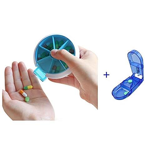 Pill Box Case Pill Wallet 7 day Pill Organizer With Free Pill Cutter Pill Splitter Pill Divider Pill Dispenser for