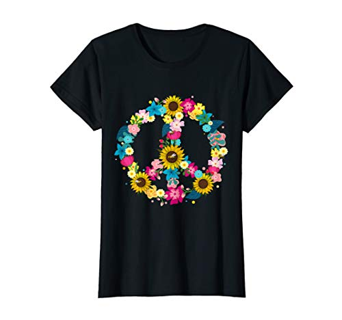 Peace Symbol 60er Jahre 70er Kostüm Geschenk für Hippies T-Shirt (70er Jahre Kinder Kostüm)