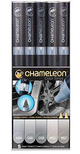 Chameleon Art Products - 5 rotuladores alcohol permanentes;
