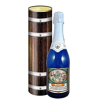 Sternzeichen-Waage-075l-Sekt-Mosel-blaue-Flasche-in-der-Geschenkdose-im-Holzdesign