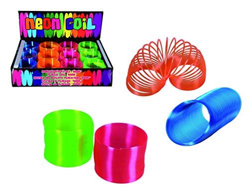 Spirale in Neon aus Kunststoff Treppenläufer Kinder-Lern-Spielzeug Frühling Magie Spiel Spaß Geburtstag-Geschenk-Idee Mitbringsel (4er Set)