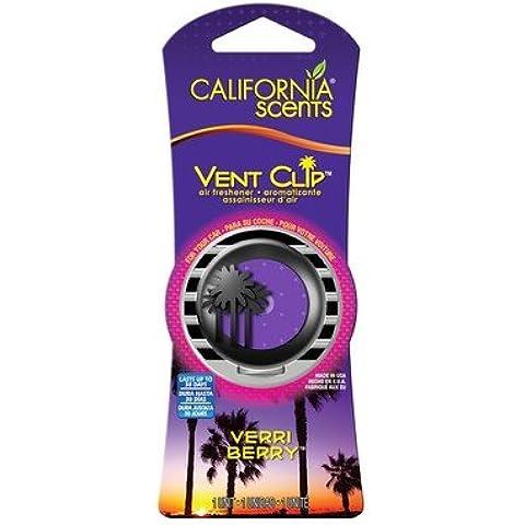 California Scents VC-6302TRMC Vent Clips Verri Berry Ambientador