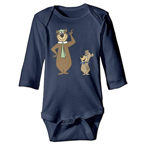 fjhfgdjrt Bodys für Baby Lange Ärmel Yogi Bear Logo Long Sleeve Baby Bodysuit Tops Unique Design