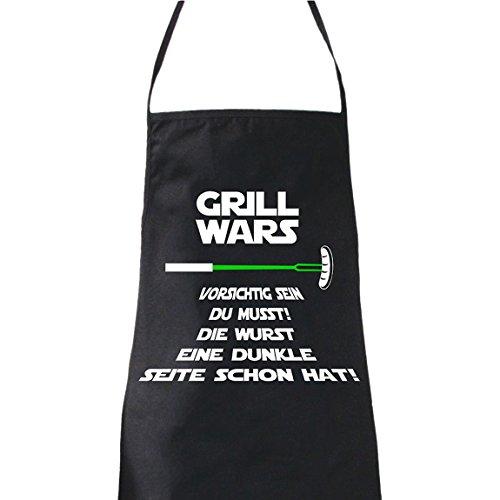 ShirtWorld - Grill Wars Vorsichtig sein Du musst - Grillschürze