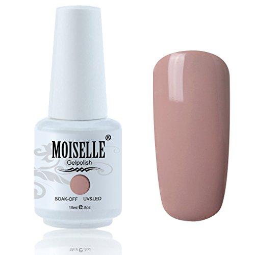 Moiselle 15ml Vernis à Ongles Gel Semi Permanent UV LED aux 298 Couleurs Divers Nail Art Manucures Marron No.006