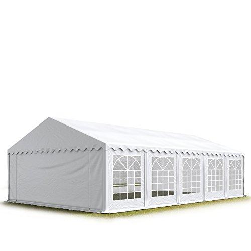 TOOLPORT Party-Zelt Festzelt 5x10 m Garten-Pavillon -Zelt 500g/m² PVC Plane in weiß Wasserdicht