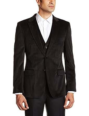Arrow Newyork Men's Velvet Slim Fit Blazer  (8907163007506_ABOY9704_48_Black)
