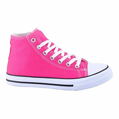 Herren Damen Sportschuhe High Top Sneaker Canvas Basketball Freizeit Unisex Schuhe Pflaume/Damen