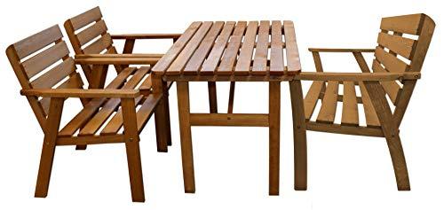 KYNAST Sitzgruppe Kiefer Holz 4 teilig