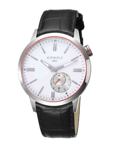 Kienzle K9031012021-00150 - Reloj analógico de cuarzo para hombre con correa de piel, color negro