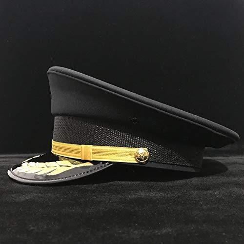 Offizier Kostüm Hat - VAXT Train Germany Offizier Visier Cap Armeehut Cortical Militär Mützen Polizei Cap Cosplay Halloween Größe S M L XL