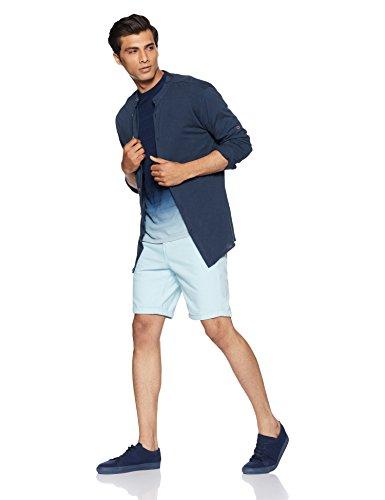 Celio Herren T-Shirt Gegrade Blau (Indigo)
