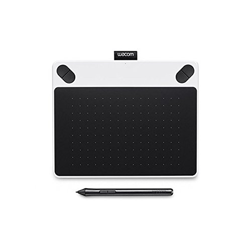 Wacom CTL-490DW-S Intuos Draw Stift-Tablett S (inklusive Softwaredownload von ArtRage Lite) weiß
