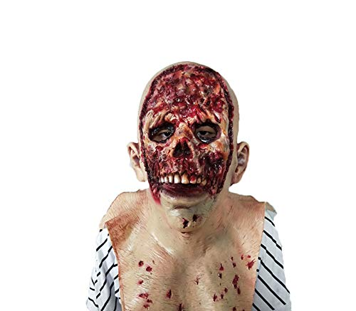 AHUO Resident Evil Monster Maske, Zombie Kostüm Party Latex Maske Halloween
