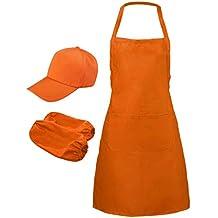 B Blesiya Delantal con Bolsillo Delantal Grande para Cocineras Uniforme para Camareras Ropa de Trabajo para
