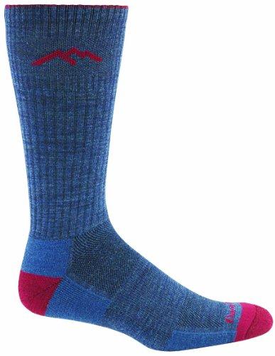 Crew Wolle Kleid-socken (Darn Tough Vermont Merino Wolle Kleid Crew Socke, Herren Mädchen Jungen damen, rot / blau, X-Large (12.5+))