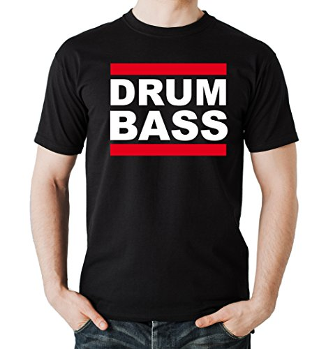 Drum and Bass T-Shirt Black Certified Freak-L
