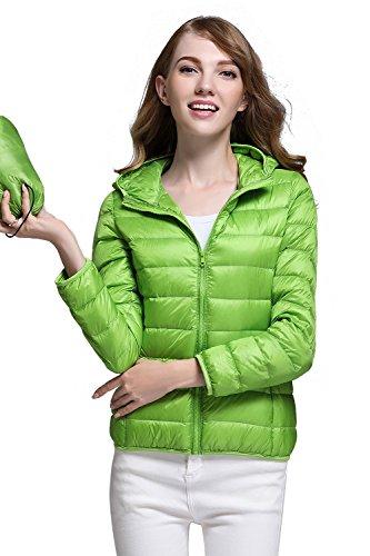 CHERRY CHICK Women's Packable Down Jacket with Hood , Größe M / 38 / Herstellergröße XL, Farbe 2017 Apple Green