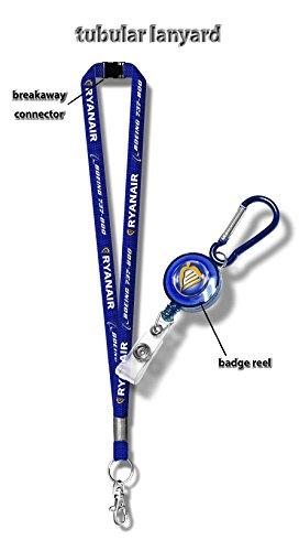 ryanair-b737-800-tubular-lanyard-badge-reel