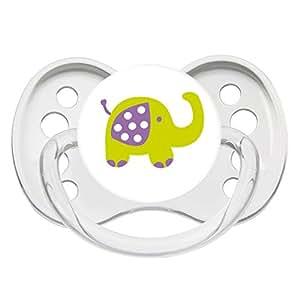 Luc et Léa Les Discrètes Sucette Silicone 0-6 Mois - Modèle : Elephant