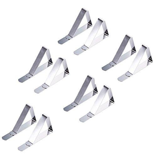 10 Packs Nappe Clip En Acier Inoxydable Nappe Clip Durable 55 Mm Grande Bouche Clip Réglable Maison Cuisine En Acier Inoxydable Étau (argent) Clip De Couverture En Acier Inoxydable