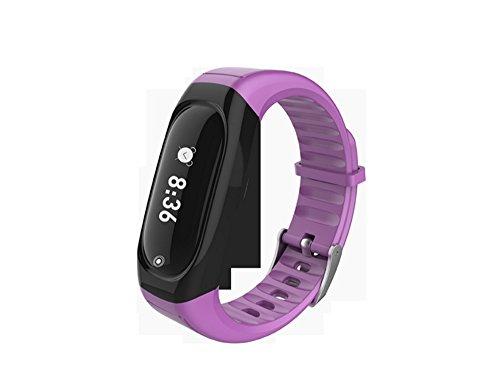Fitness Tracker, Call erinnern Herzfrequenz Monitor Wasserdicht Activity Tracker Schrittzähler Smart Armband Sleep Monitor Smartwatch für Android & iOS Smartphones, violett
