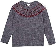 Gocco Jersey Gris con Greca Roja Suéter para Niños