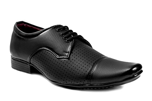 Shoecom Men's Black Office Wear & Comfort Lace Up Formal Shoes