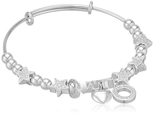 Emozioni by Hot Diamonds-Bracelet Jonc Femme-Etoile en cristal argent