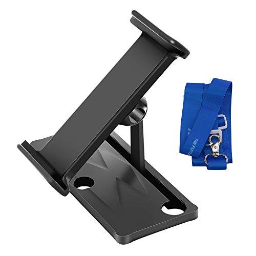 Kismaple DJI Spark / Mavic Air / Mavic Pro Aleación de aluminio Extensor de soporte plegable Tablet / Teléfono de 4-12 pulgadas Stander Holder + correa para el cuello