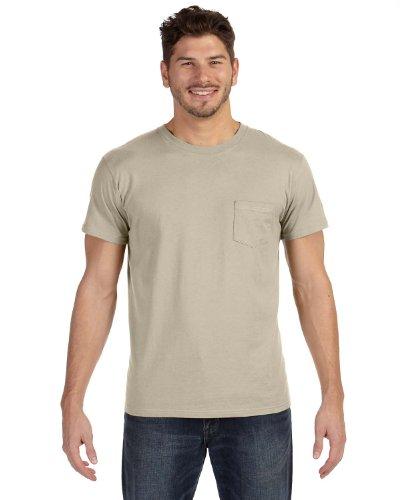 Hanes Herren Asymmetrischer T-Shirt Beige