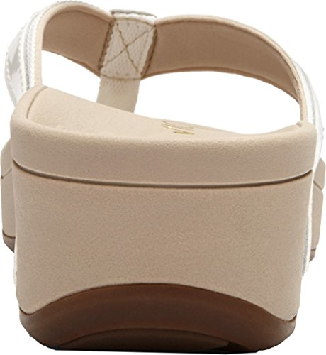 Vionic Womens 380 Hightide Pacific Leather Sandals White