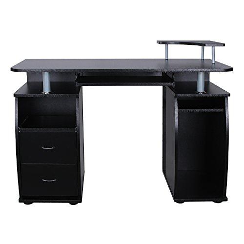 Songmics-Schreibtisch-Brotisch-XXL-MDF-Computertisch-mit-Tastaturauszug-Druckerablage-Schubladen-und-Unterschrank-115-x-85-x-55-cm