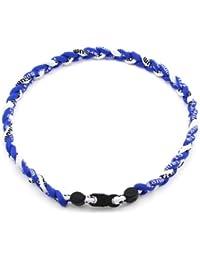 HuaYang sports 3 corde tressée colliers de titane tornade de sport de baseball(Blue/Blue/blanc)