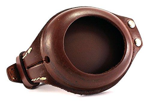 LEDERBAND & HÜLLE für TASCHENUHREN kompatible MOSER RECORD etc DECK WATCH BAND für Taschenuhren handgearbeitet Vintage look