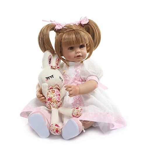 0 cm Real Life Entzückende Liebe Kitty Prinzessin Mädchen Puppe Erwachen Wiedergeboren Neugeborenen Baby Puppen in Silikon Vinyl Kindergeburtstag ()