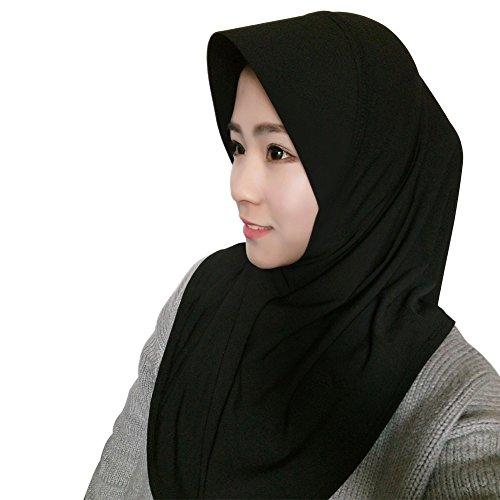 Hougood Hijab Kopftuch Muslim Hijab Schal für Damen Hijab Fertig Frauen Hijab Schal Muslim Kopftuch Hijabs Cap Einfarbig Hijabs Schals Damen Wrap Hijab Arabien Islam Turban Hijab Kopfstück