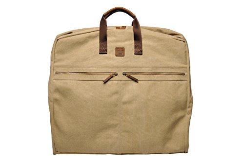"""SOUVE BAG Canvas Anzug-Tasche """"London"""" I hochwertiger Suit Carrier in verschiedenen Farben I Kleidersack aus wasserabweisender Baumwolle I Anzugshülle Handgepäck"""