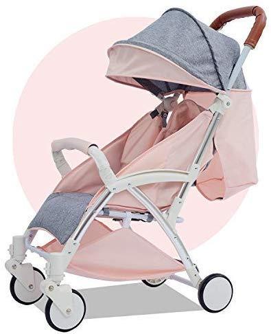 Xiaotian Innovative Verlängerung Zugstange Baby Buggy Wagen Liegesitz leichte Säugling Reise Klappkinderwagen Entspannen Sie Sich und nehmen, Rot,A