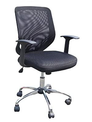 Eliza Tinsley Mesh Back Swivel Computer Desk Operators Armchair with Chrome Base produced - quick delivery from UK.