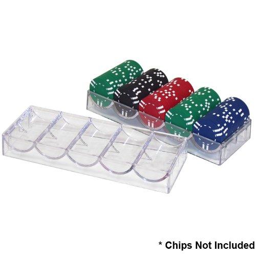 Markenzeichen Poker Acryl klar Chip Rack/Tablett