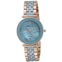Anne Klein Womens Quartz Watch, Analog Display and Stainless Steel Strap AK3158LBRG