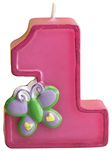 Anniversary House Pink 1st Birthday Shaped Candle