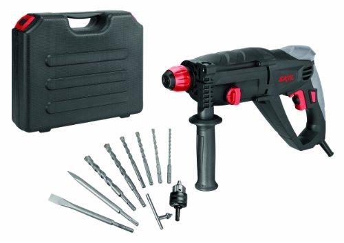 Skil Bohrhammer 1764 AK (920W, 2,1 J, SDS+, +6 SDS+ Bohrer, +2 SDS+ Meißel, mit Metallbohrfutter-Adapter)